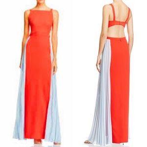 NEW BCBG MaxAzria Brielle Open Back Pleated Gown 6